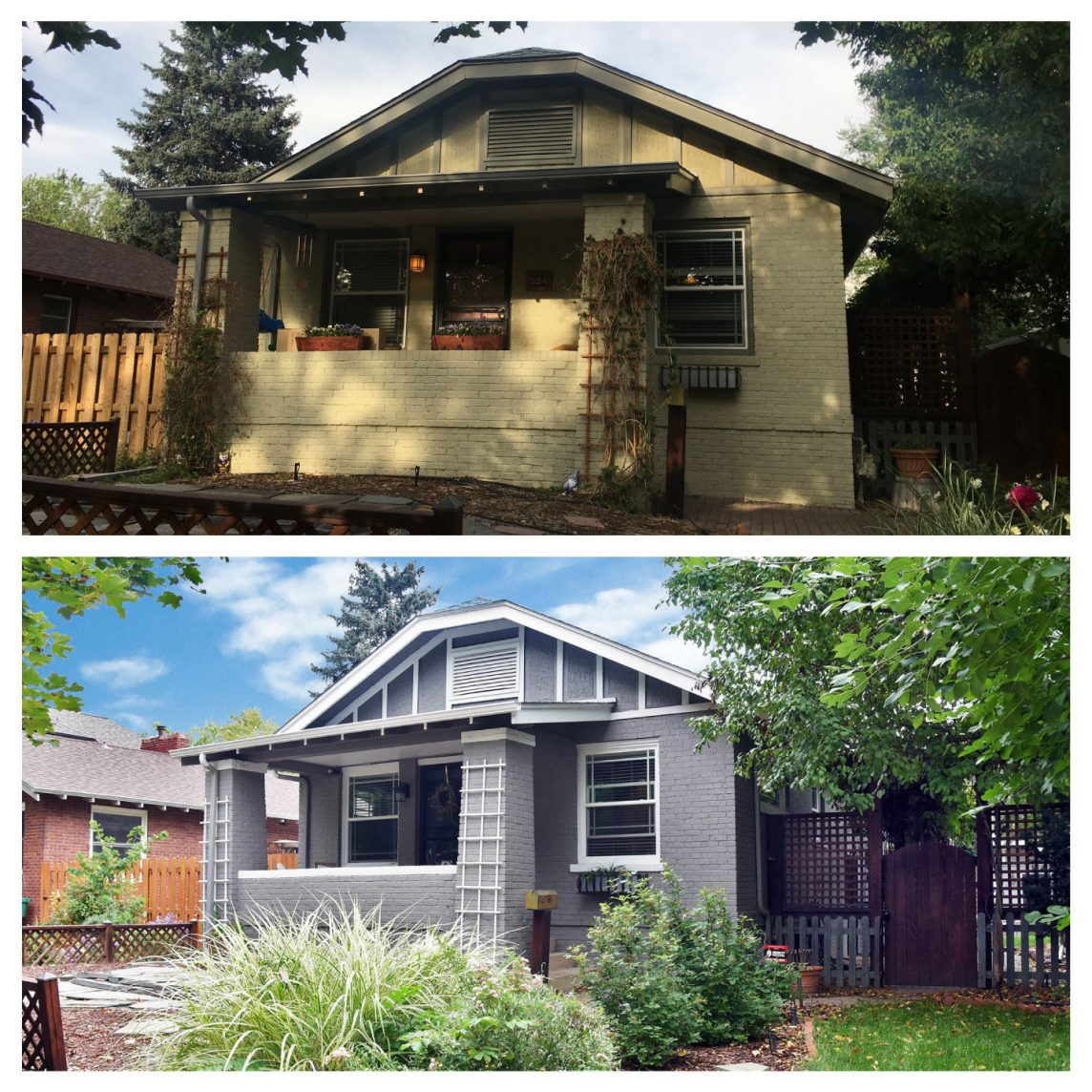Paint Denver House Painting Before and After Brick Home Denver