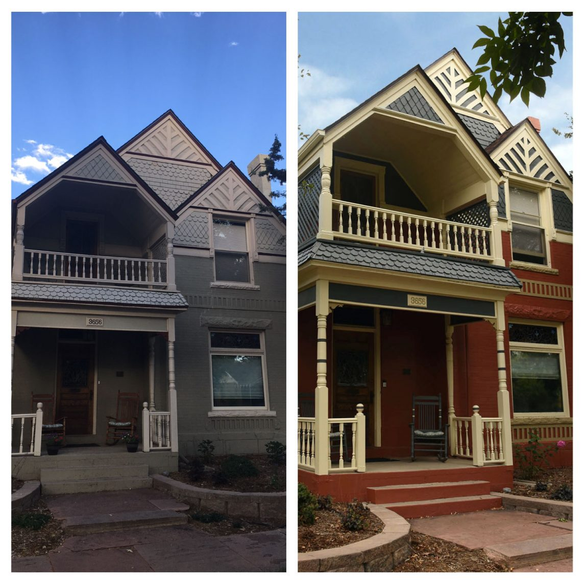 Victorian House Painting Before and After Denver House Painting
