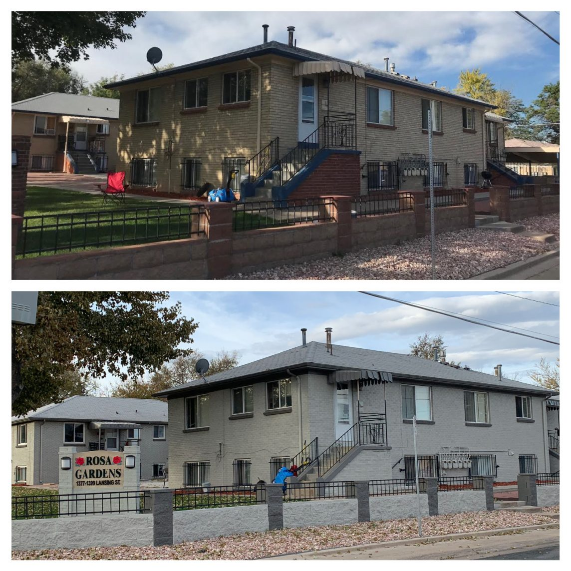 Denver House Painting Before and After Photo Residential Exterior Painting Services