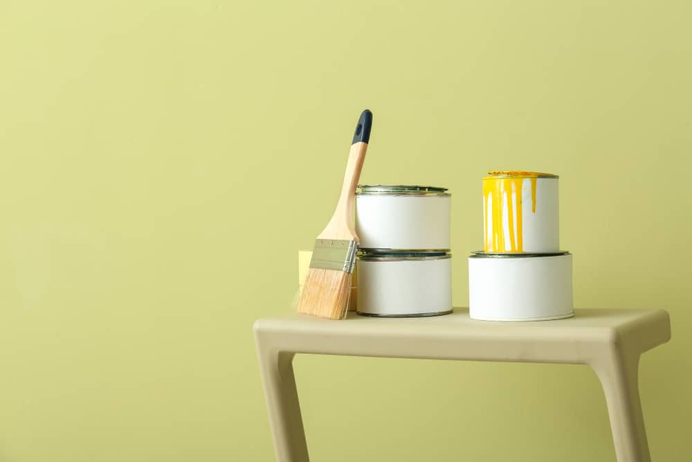 Olive Green Interior Painting