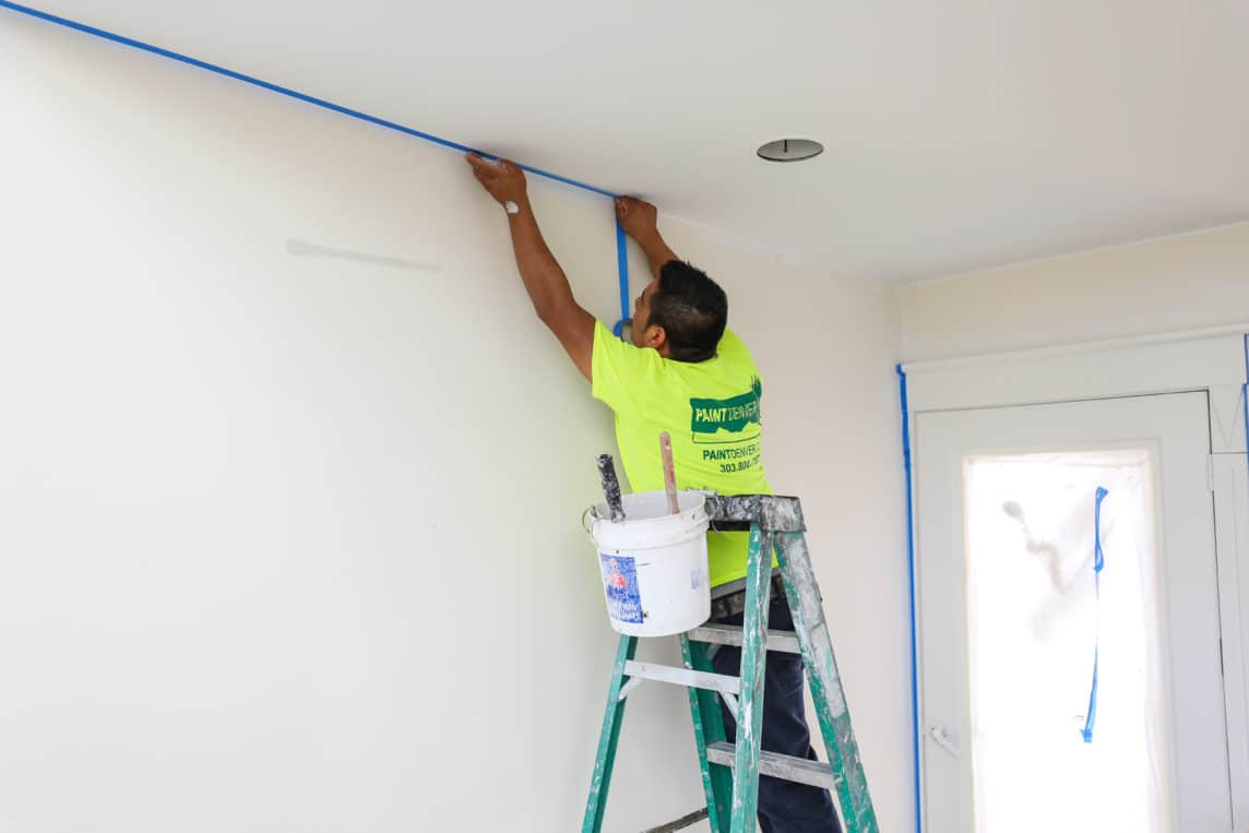 process of prepping a home for painting the interior of a home and skim coating