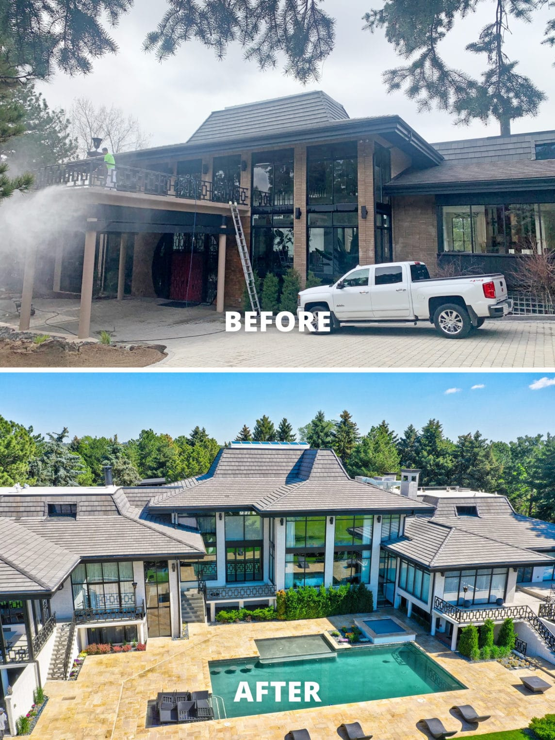 large mansion in colorado before and after photos